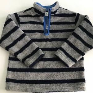 Hanna Andersson gray fleece pullover 120